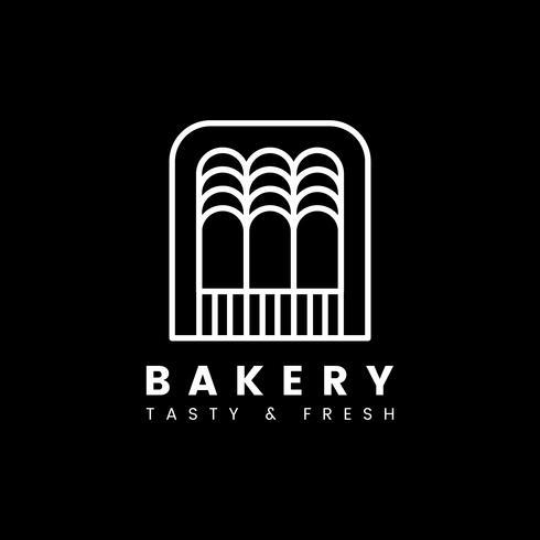 Verse bakkerij gebak winkel logo vector