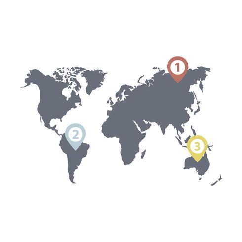 Infographik Vektor der Weltgeschäftsverteilung