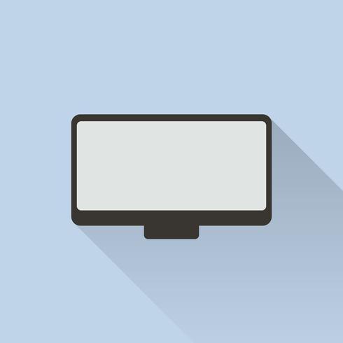 Illustratie van geïsoleerd computerscherm