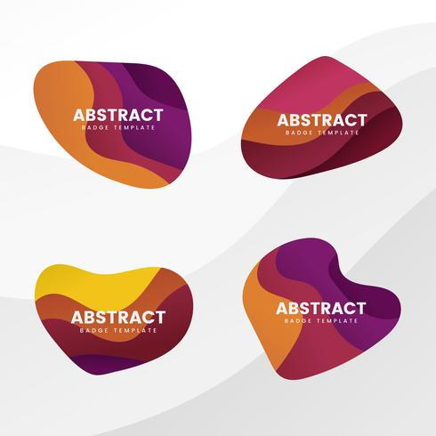 Abstract badge design vector set