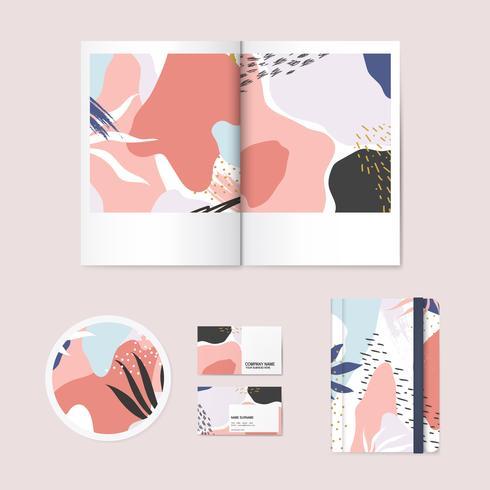 Memphis-Designmuster-Firmenbrandingvektor