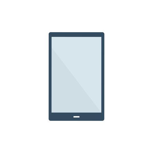 Illustration graphique de la tablette écran blanc