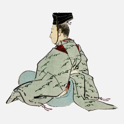 Ancien empereur japonais de K? No Bairei (1844-1895). Amélioré numériquement de notre propre édition originale de 1913 de Bairei Gakan.