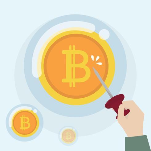 Crypto-monnaie Bitcoin dans un état de bulle