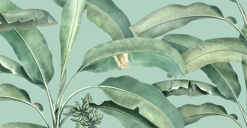 Tropisk sommarmönster illustration