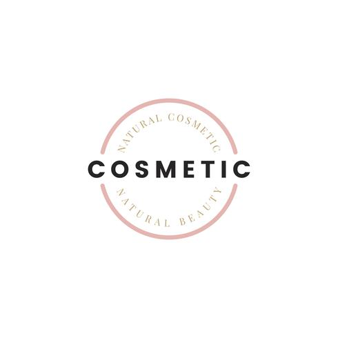Natur kosmetika logo design vektor