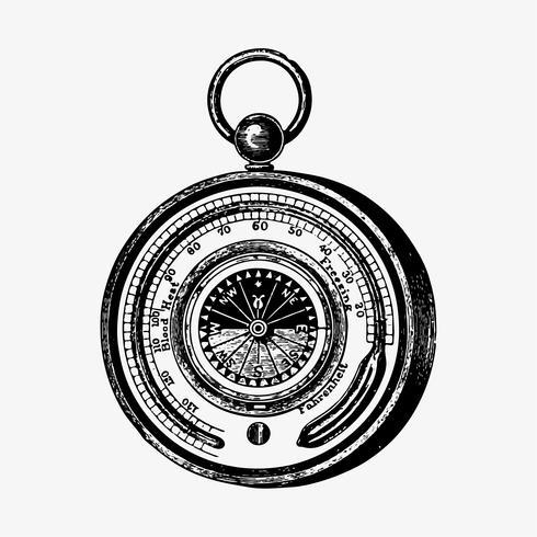 Aneroïde barometer vintage stijl