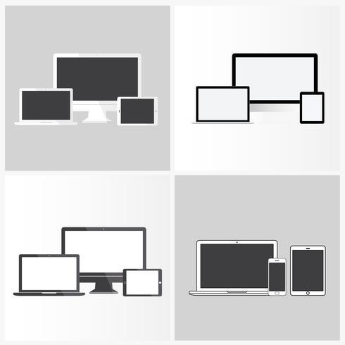 Illustrazione di dispositivi digitali isolati