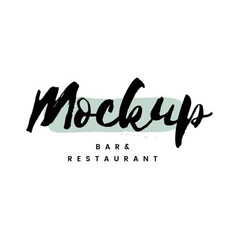 Mockup bar e logo del ristorante