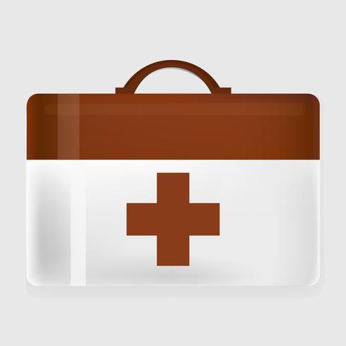 Erste-Hilfe-Ausrüstungs-grafischer Illustrations-Vektor