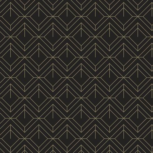 Minimal black and gold geometric pattern