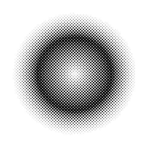 Insignia de semitono negro sobre fondo blanco vector