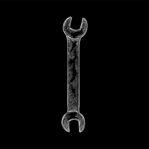 Vintage illustration of a wrench