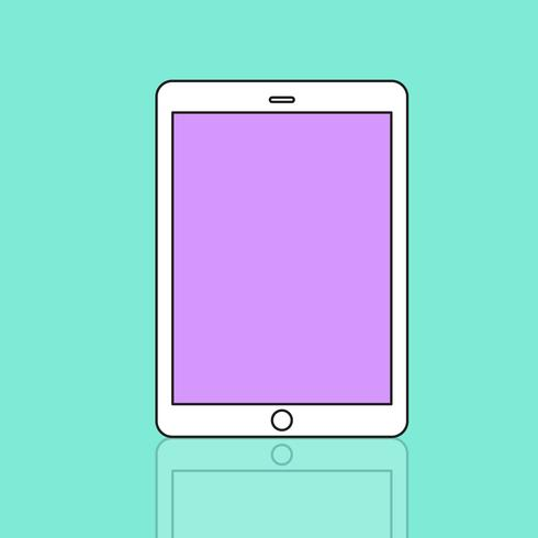 Illustration of digital tablet isolated