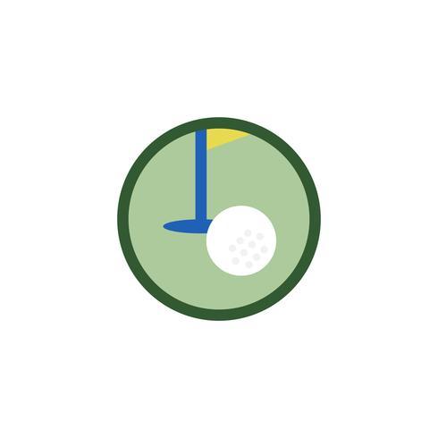 Illustration of golf icon