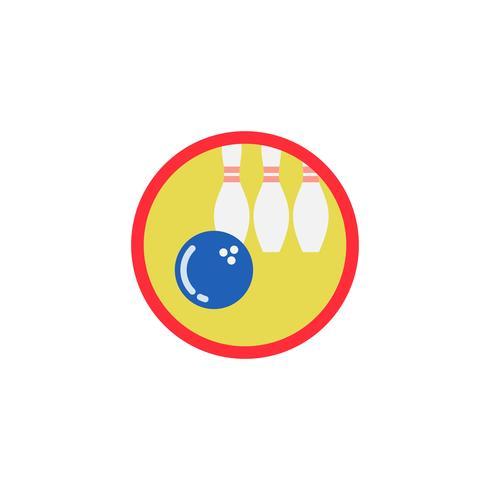 Illustration of bowling icon