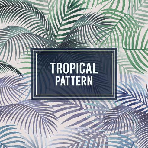 Palm leaves pattern mockup illustration