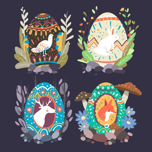 Easter egg designs collection