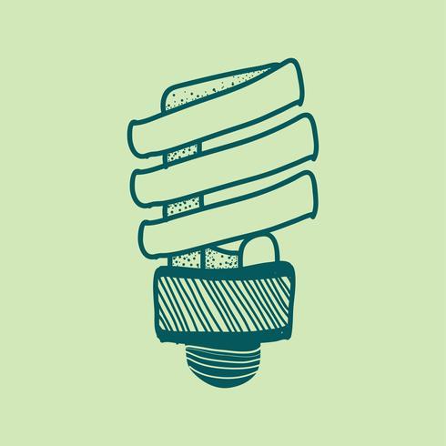 Vettore di una lampadina