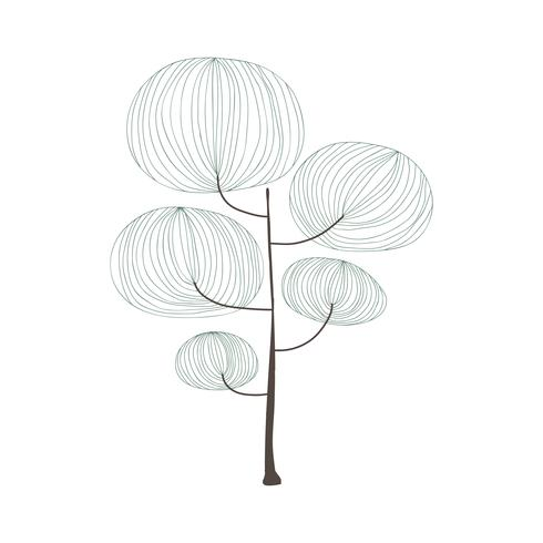 Doodle eines Baumes
