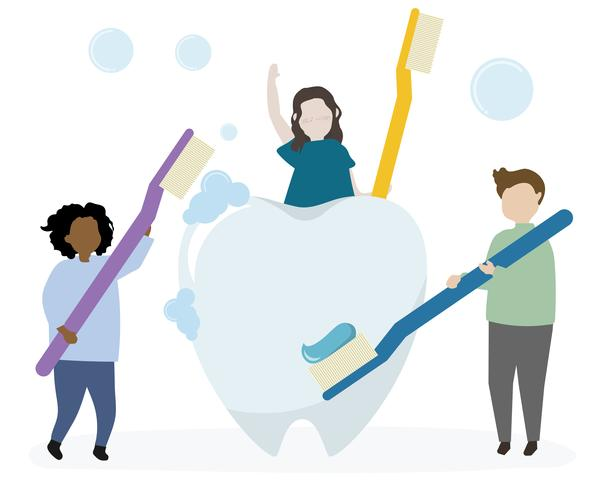 Higiene dental y asistencia sanitaria.