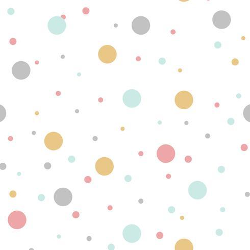 Vettore di progettazione di pois colorati