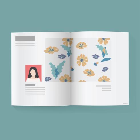 Modern magazine vector