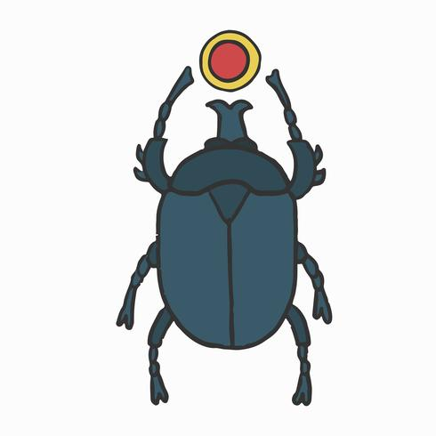 Amuleto del escarabajo egipcio, un representante de Khepri