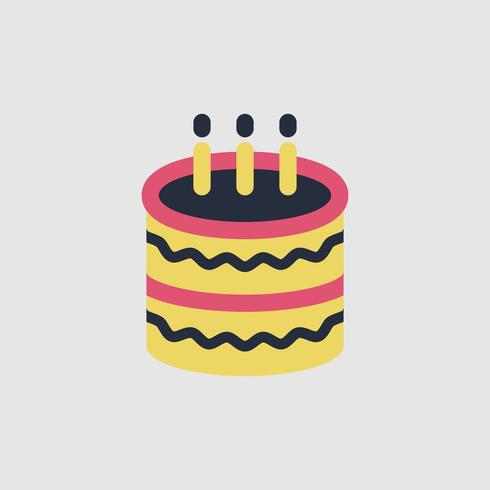 Awe Inspiring Illustration Of Birthday Cake Icon Download Free Vectors Funny Birthday Cards Online Elaedamsfinfo