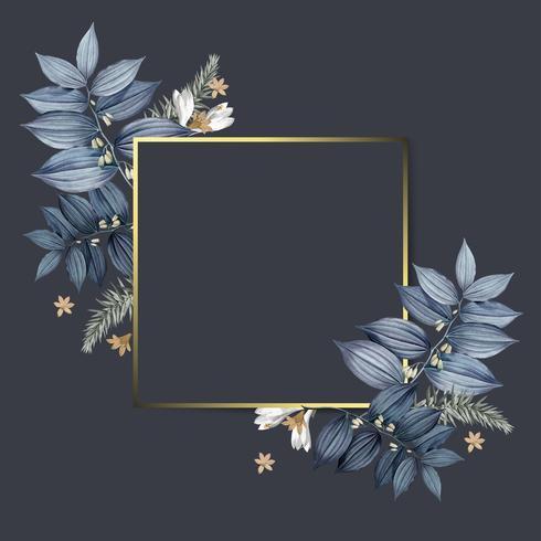 Leerer Blumenfeldauslegungvektor