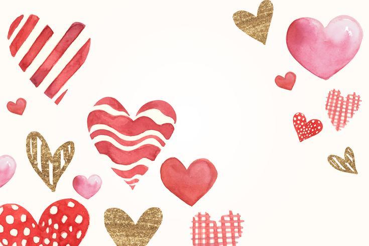 Alla hjärtans dag ikon akvarell illustration