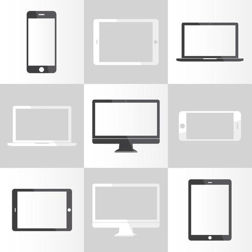 Abbildung der digitalen Geräte getrennt