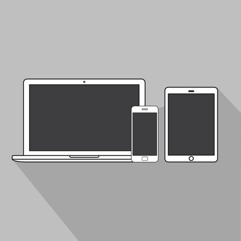 Ilustração de laptop plana