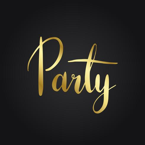 Party celebration typography style vector