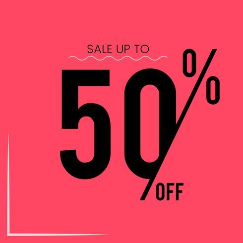 Försäljning upp till 50% rabatt vektor
