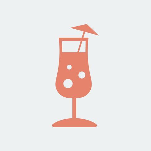 Ilustración de copa de cóctel paraguas