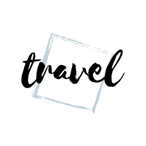 Tipografía de viaje o vector logo
