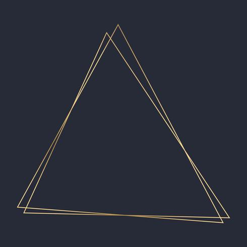 Guld triangel ram mall vektor