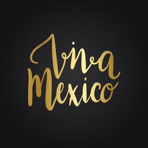 Vector de estilo de tipografía Viva México