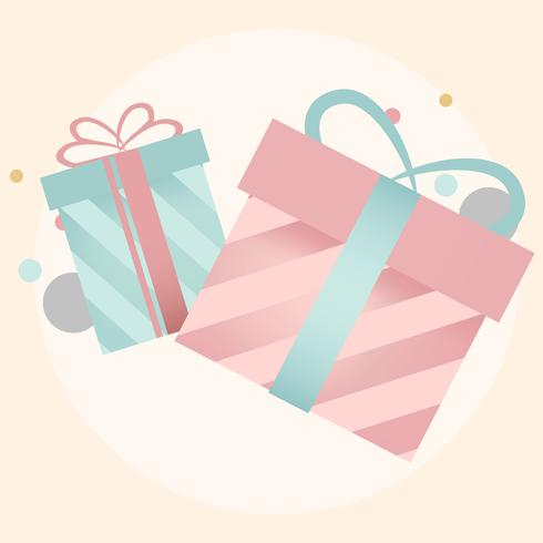 Colorful gift box design vectors