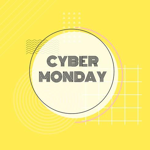 Vetor de promoção de compras on-line Cyber segunda-feira