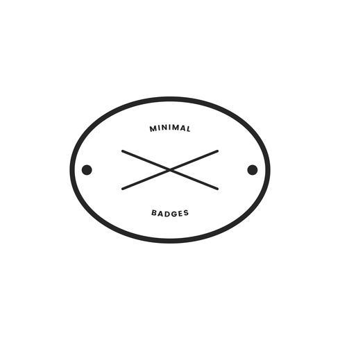 Minimal stil märke och logotyp