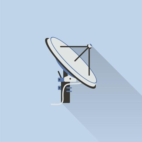 Illustration d'une antenne satellite