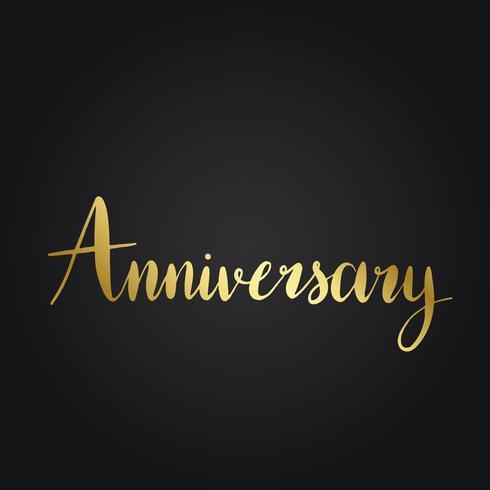 Anniversary wording typography style vector