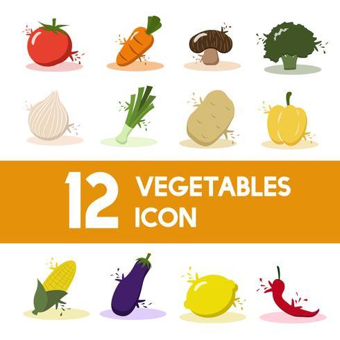 Illustration of vegetable set