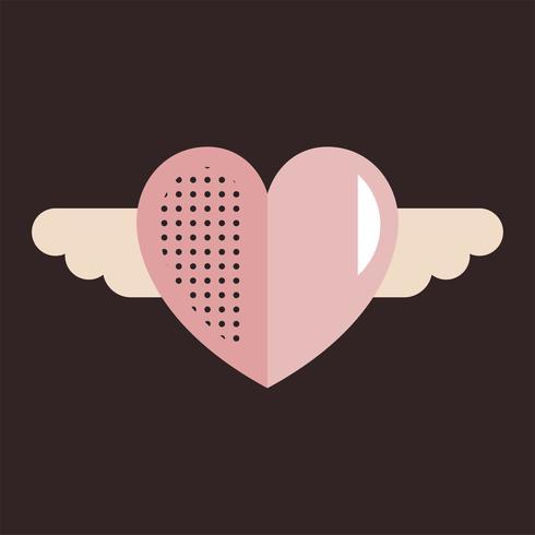Concetto di simbolo dell'icona di amore del cuore di giorno di biglietti di S. Valentino