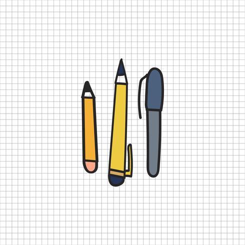Vector van briefpapier doodle stijl
