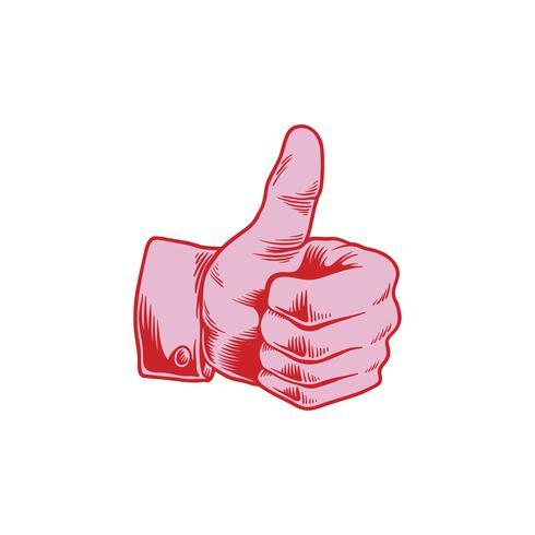 Ilustração, de, polegares cima, ícone