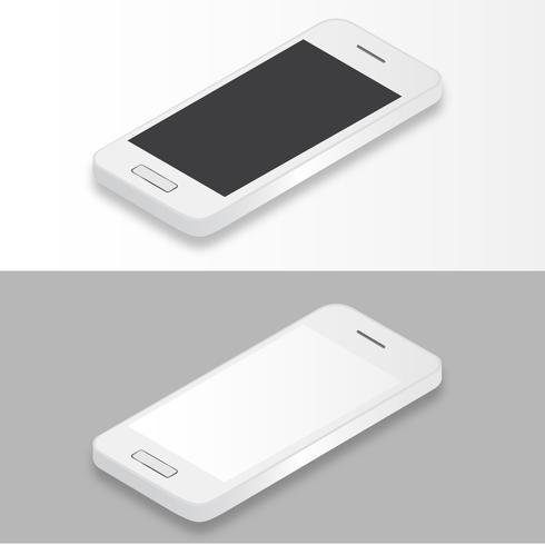 Illustrazione del telefono cellulare isolato