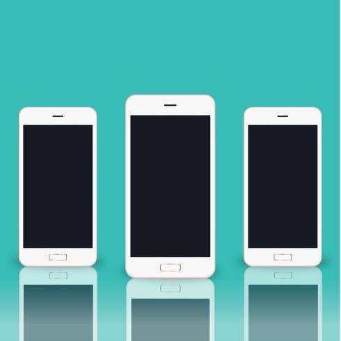 Illustration de téléphone portable isolé